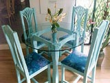 Furniture Accents Café Table & Chairs Caribbean Coral
