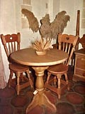 Furniture Accents Café Table & Chairs Pedestal