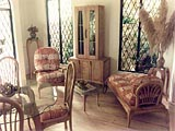Furniture Design Tropical Hard Wood Batik Fabric