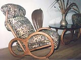 Furniture Design Tropical Hard Wood Batik Fabric Morris Chair
