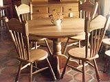 Kitchen Pedestal Table Café Chairs