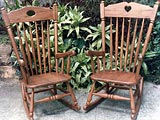 Teak Wood Gallery Porch Furniture Rocking Chair